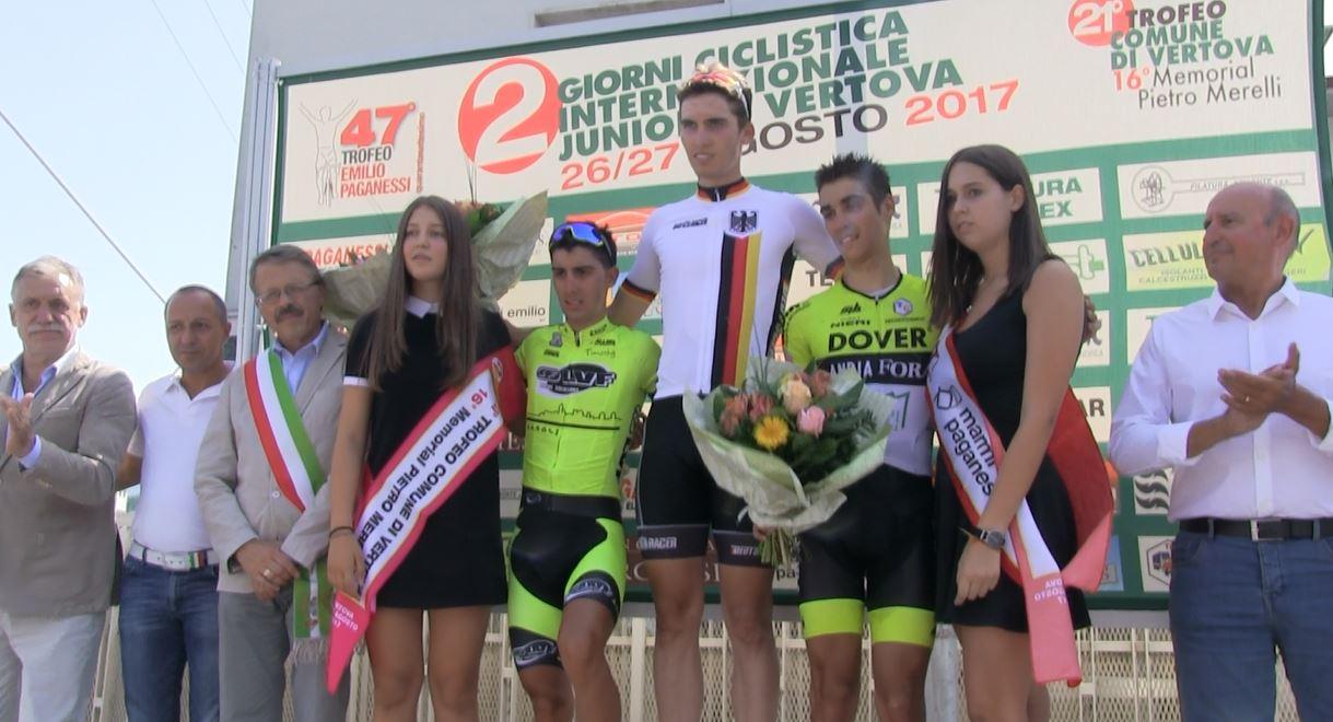 Il podio del Trofeo Emilio Paganessi 2017