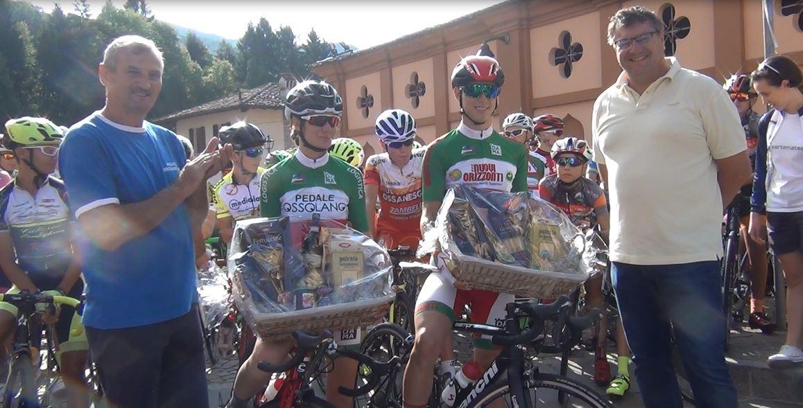 La premiazione dei campioni italiani Manuel Oioli e Francesca Barale