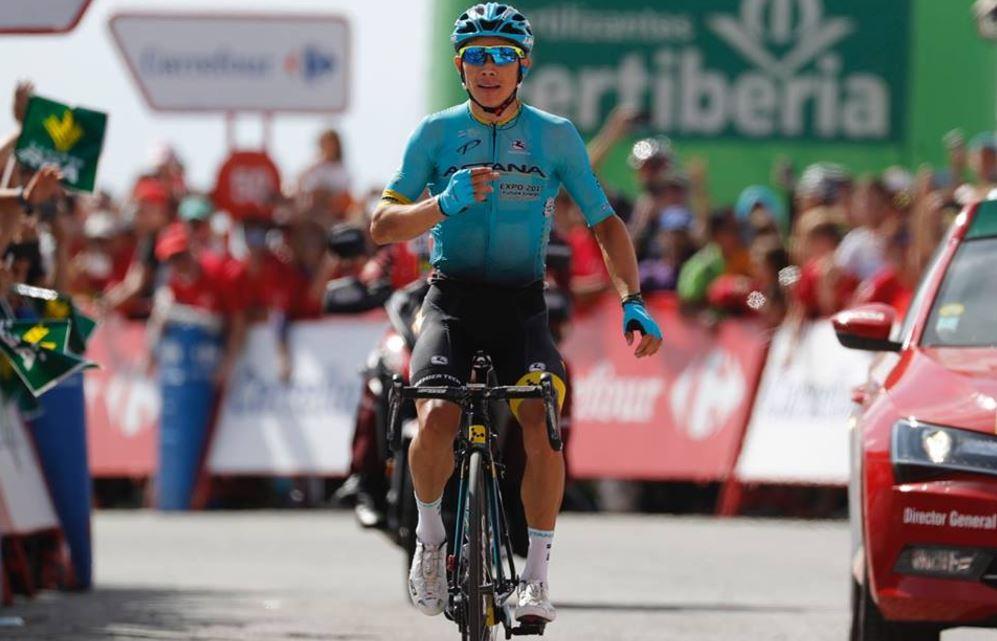 Miguel Angel Lopez vince la 15/a tappa della Vuelta a Espana 2017