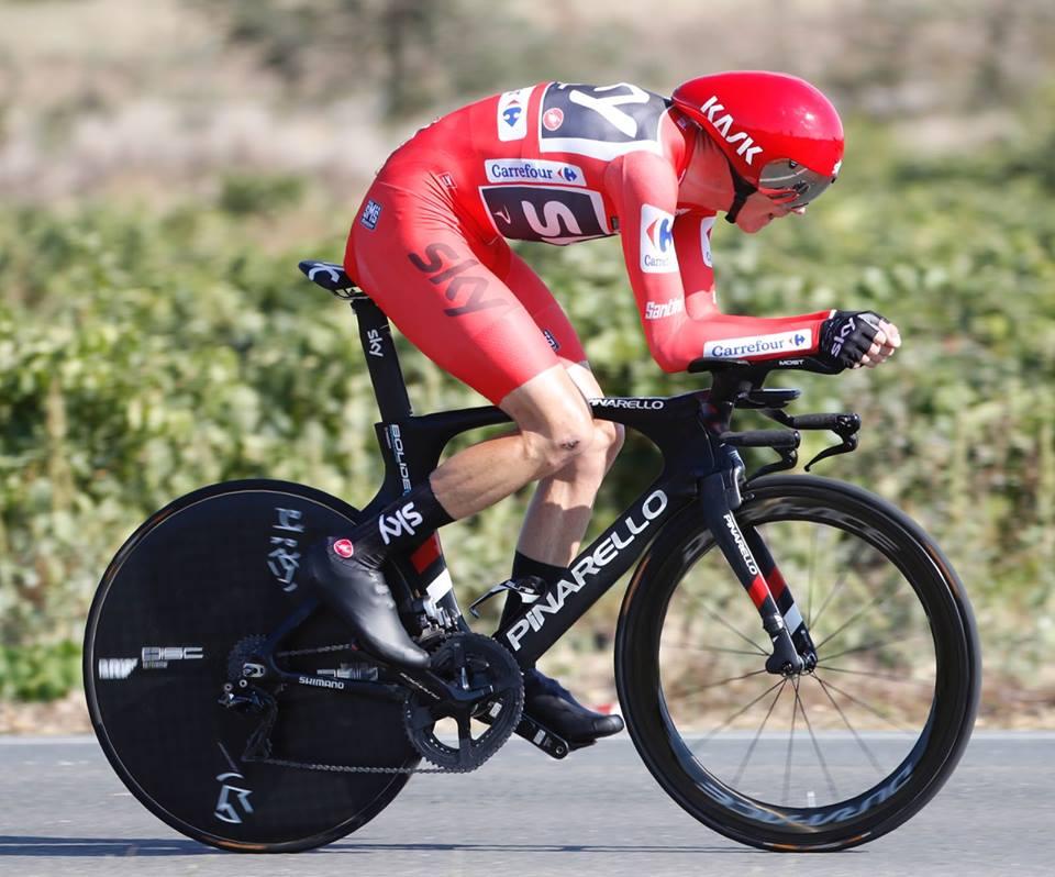 Chris Froome vince la sedicesima tappa a cronometro della Vuelta a Espana