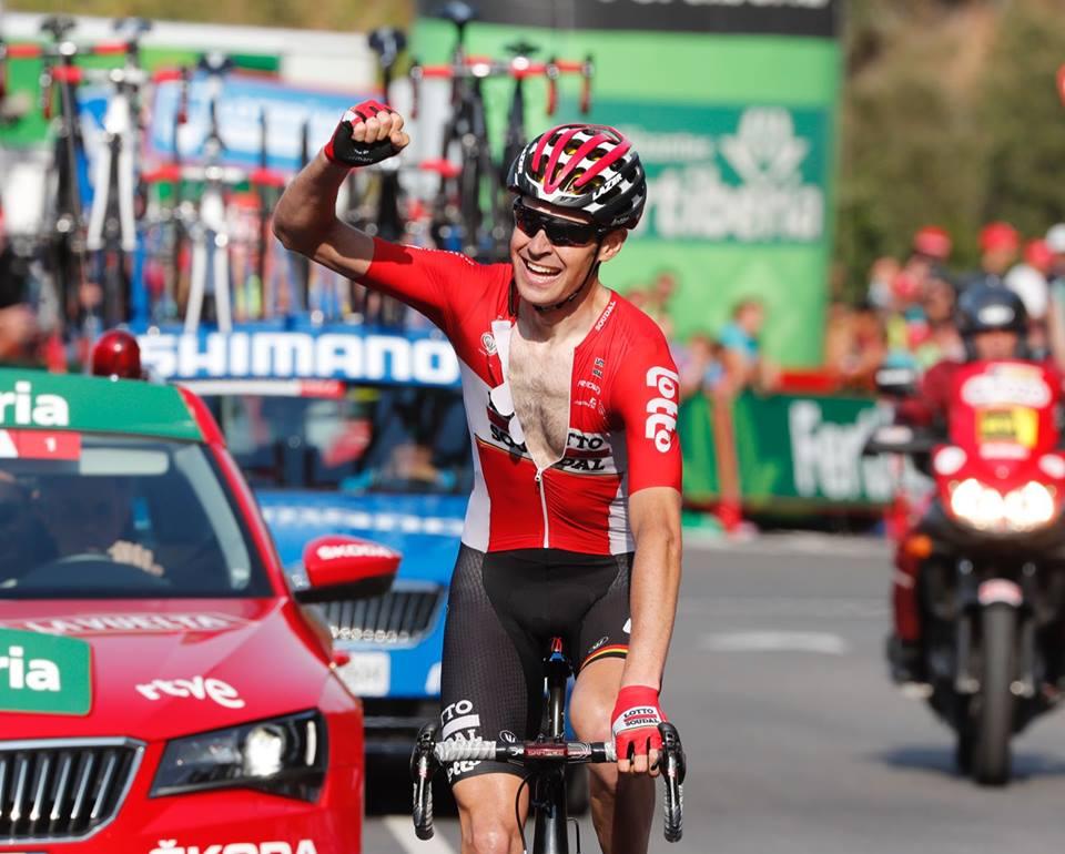 Sander Armee vince la 18/a tappa della Vuelta a Espana