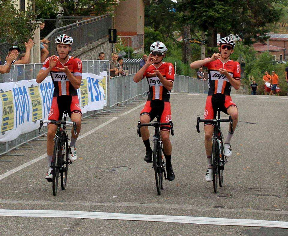 Tripletta britannica nella prima tappa del Giro di Basilicata Juniores