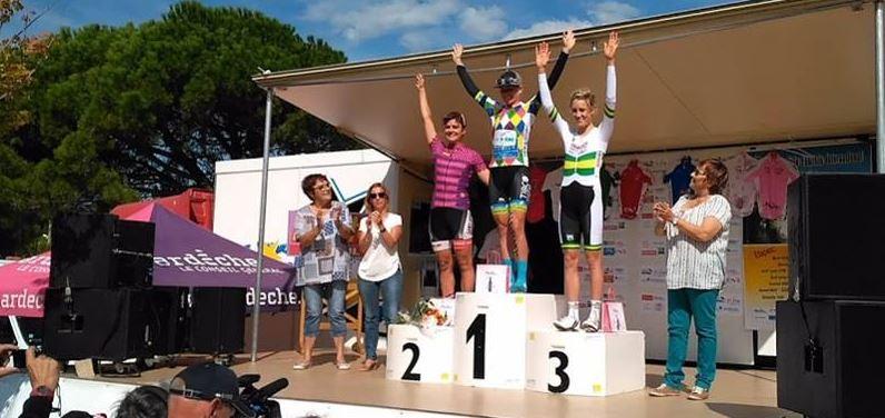 Il podio della terza tappa del Tour de l'Ardèche