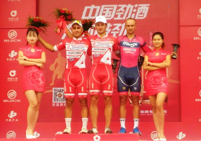 Benfatto e Malucelli sul podio della quarta tappa del Tour of China II