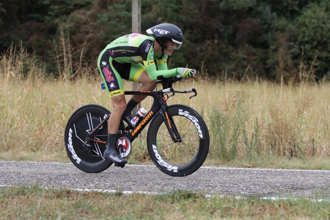 Mattia Cristofaletti vince la cronometro Under 23 di Valeggio sul Mincio
