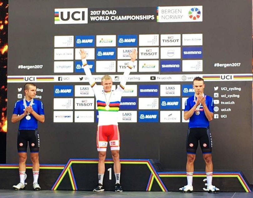 Il podio del Mondiale Juniores 2017