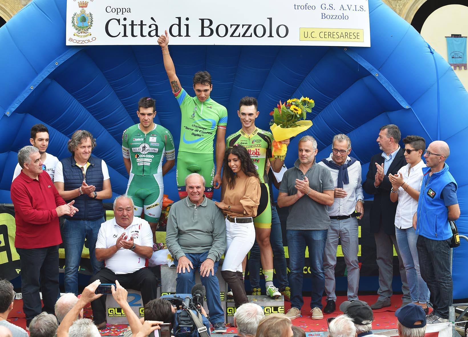 Il podio finale della gara di Bozzolo