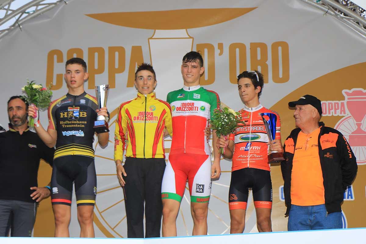 Il podio della Coppa di Sera Esordienti 2° anno 2017
