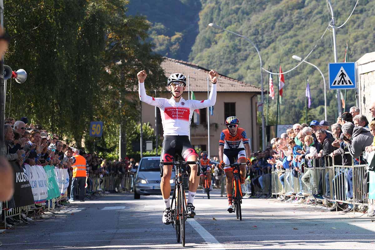 Antonio Tiberi vince la Albese-Ghisallo 2017