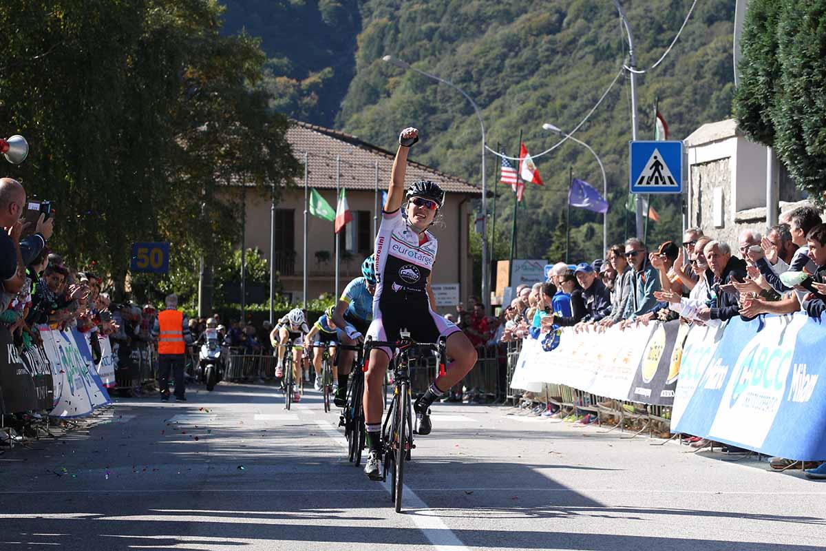 Angelica Brogi vince la Monza-Ghisallo 2017