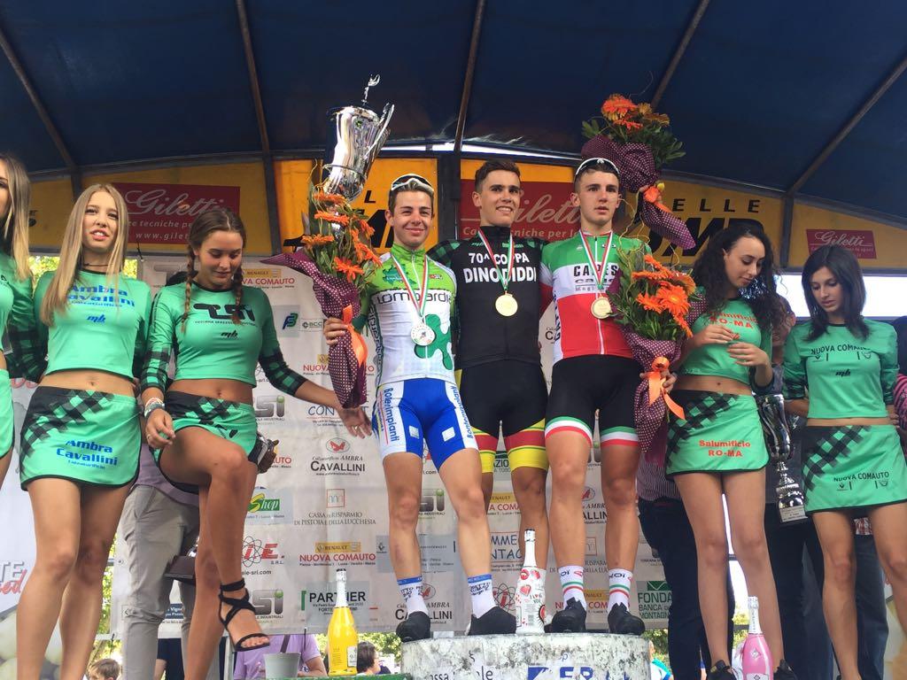 Il podio della Coppa Dino Diddi 2017 vinta da Enrico Baglioni