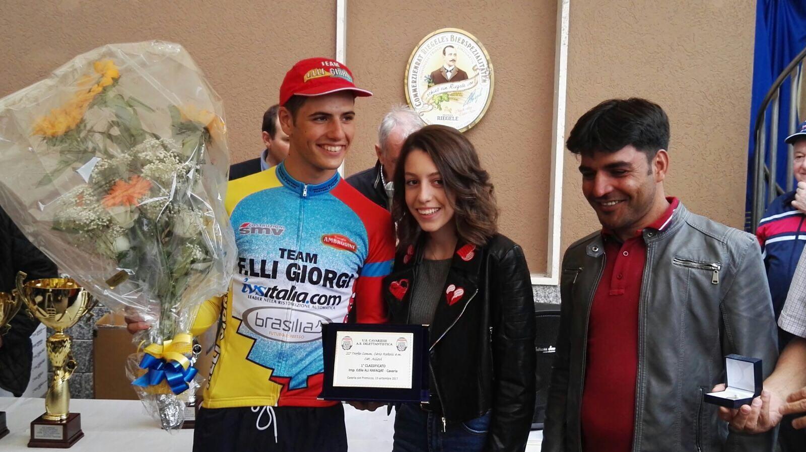 Giovanni Pagani vincitore della gara Allievi di Cavaria