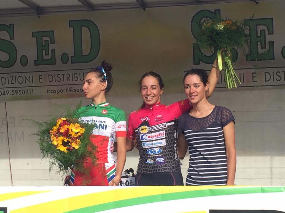 Il podio della gara Donne Allieve di Loria