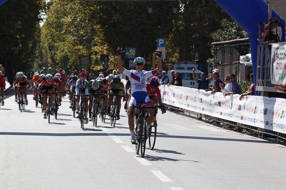 Eleonora Camilla Gasparrini vince la gara Donne Allieve di Racconigi