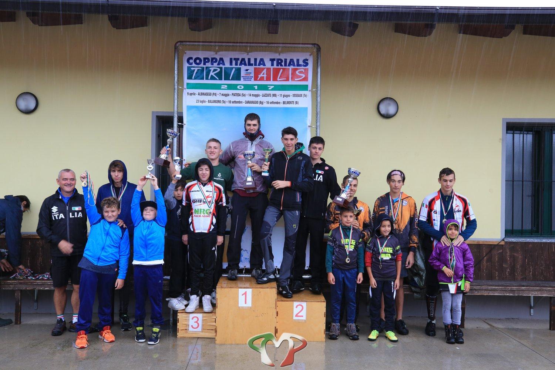 Tutti i vincitori della prova di Coppa Italia Trial a Caravaggio