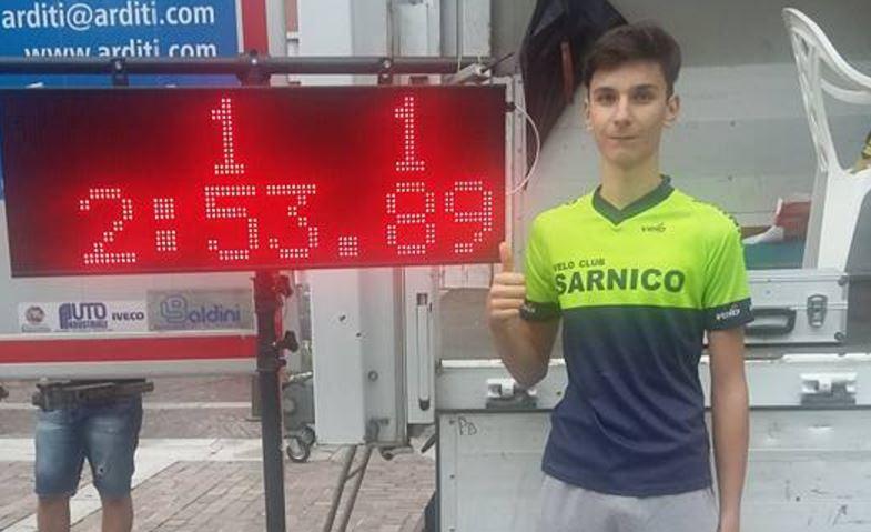 Lino Colosio vince la cronometro di San Pellegrino Terme per Esordienti