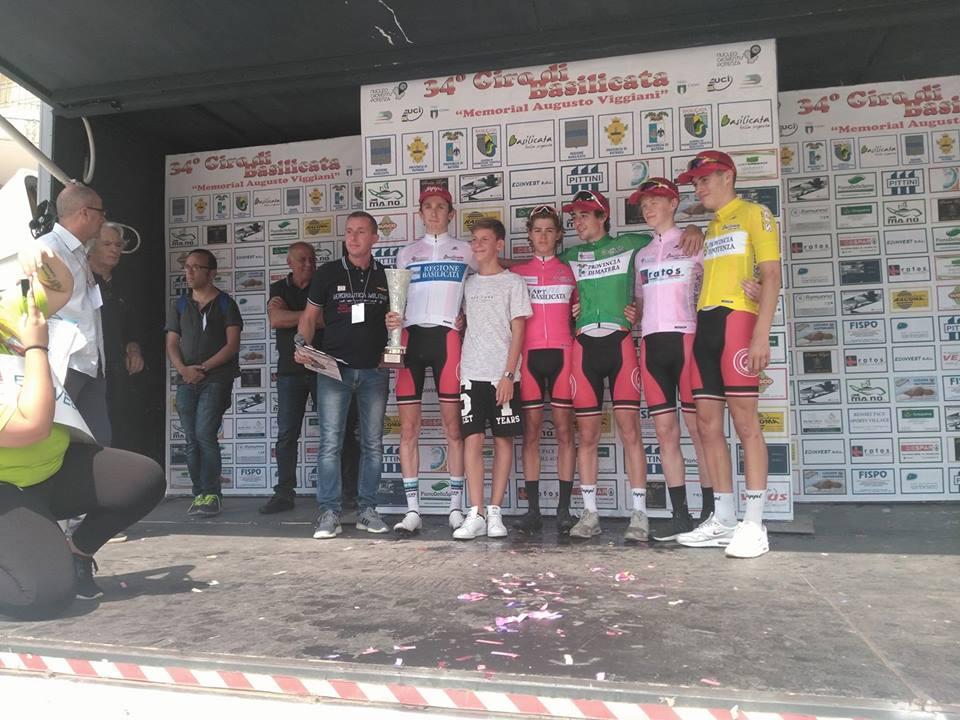 Tutte le maglie del Giro di Basilicata Juniores 2017
