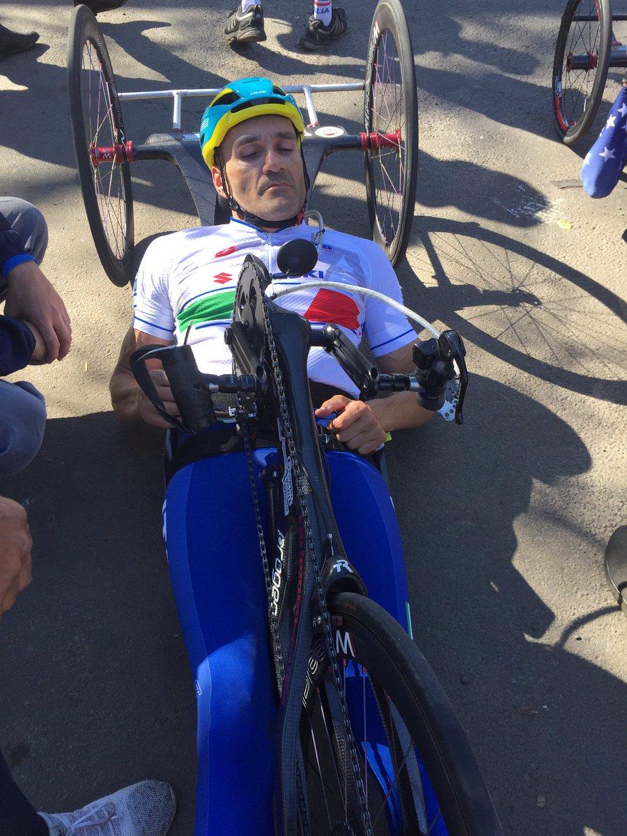 Luca Mazzone bis d'oro al Mondiale Paraciclismo