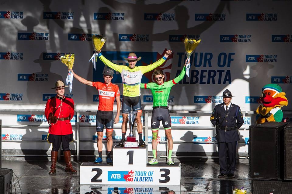 Il podio finale del Tour of Alberta 2017