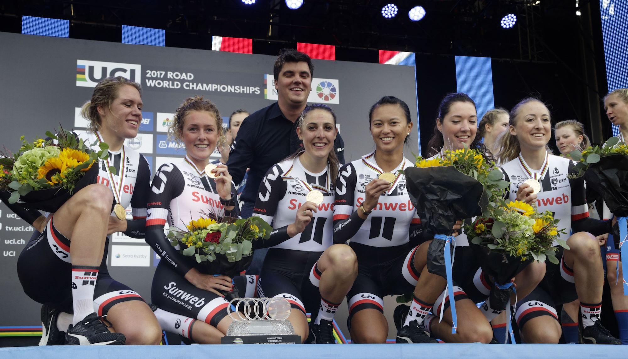 Il Team Sunweb campione del mondo della cronosquadre Donne Elite
