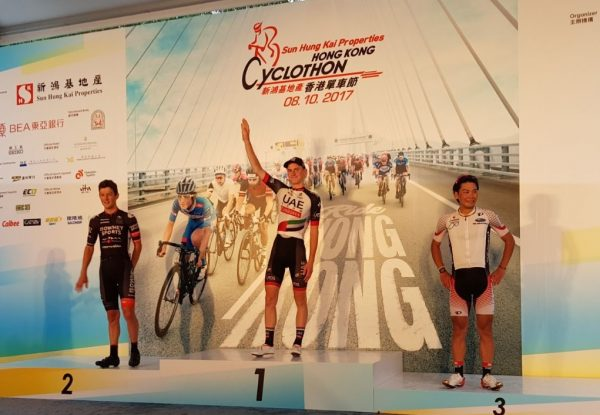 La vittoria di Matej Mohoric all'Hong Kong Challenge