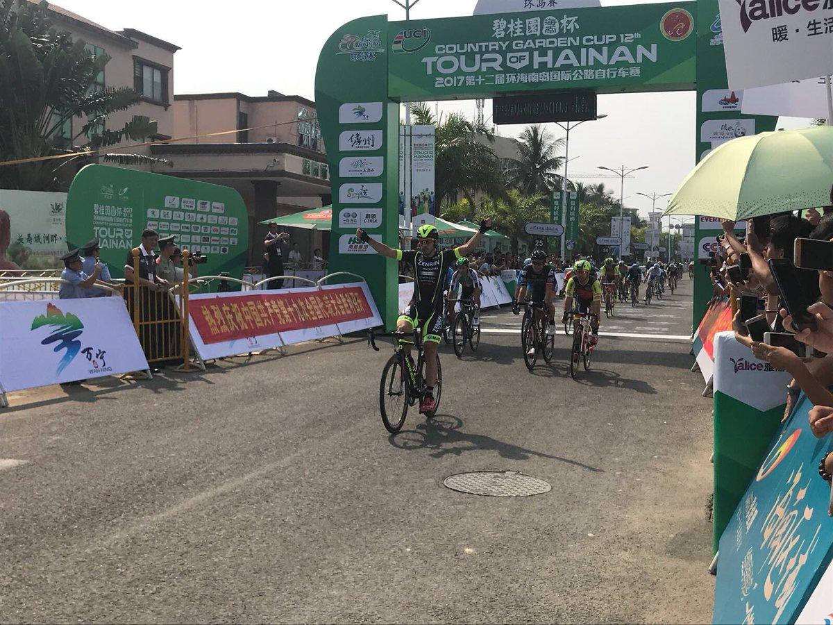Jon Aberasturi vince la prima tappa del Tour of Hainan 2017