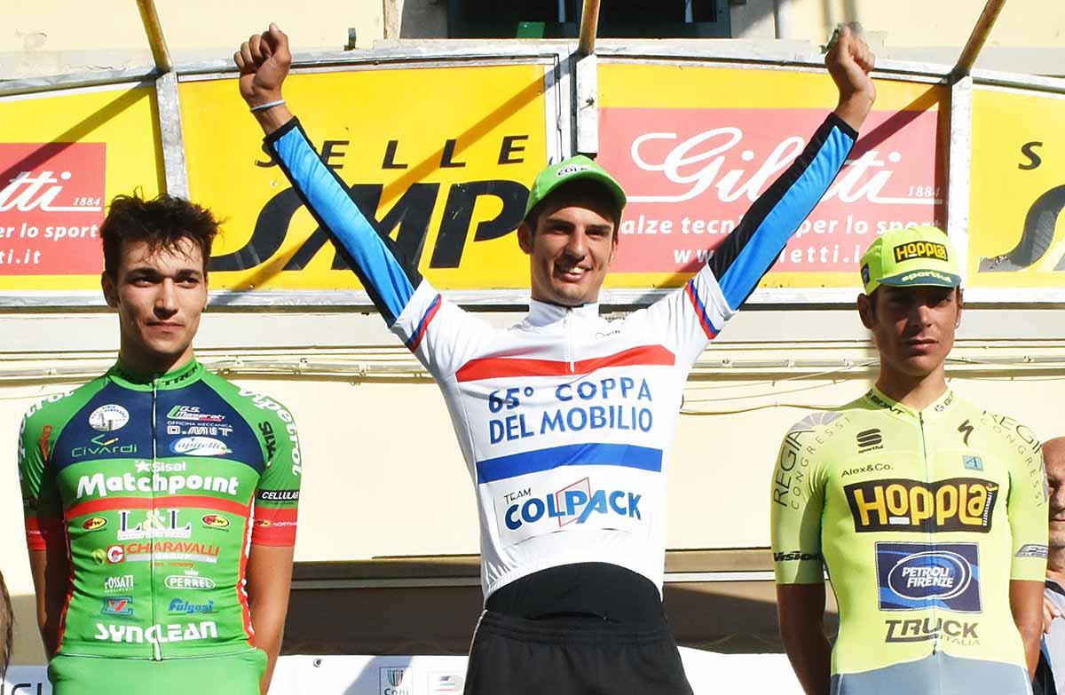 Andrea Toniatti vince la crono e la classifica finale della 65/a Coppa del Mobilio di Ponsacco