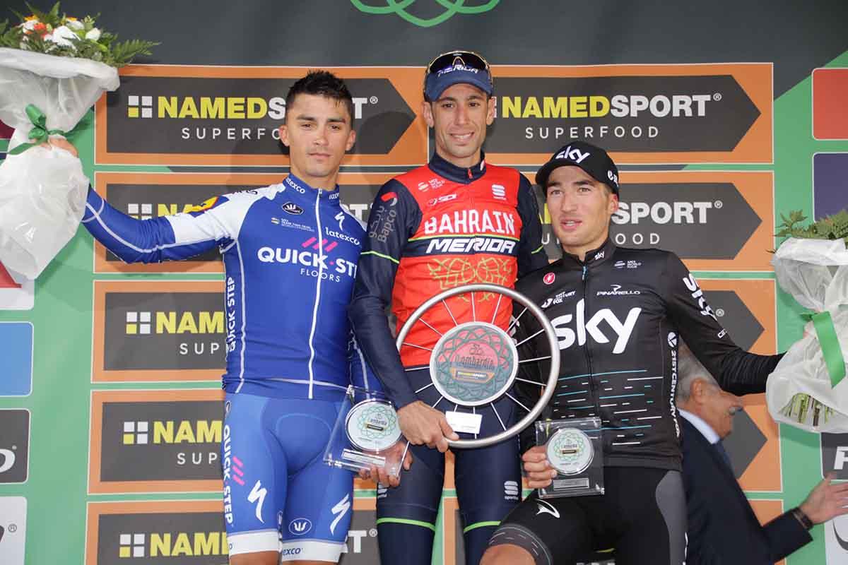 Il podio de Il Lombardia 2017