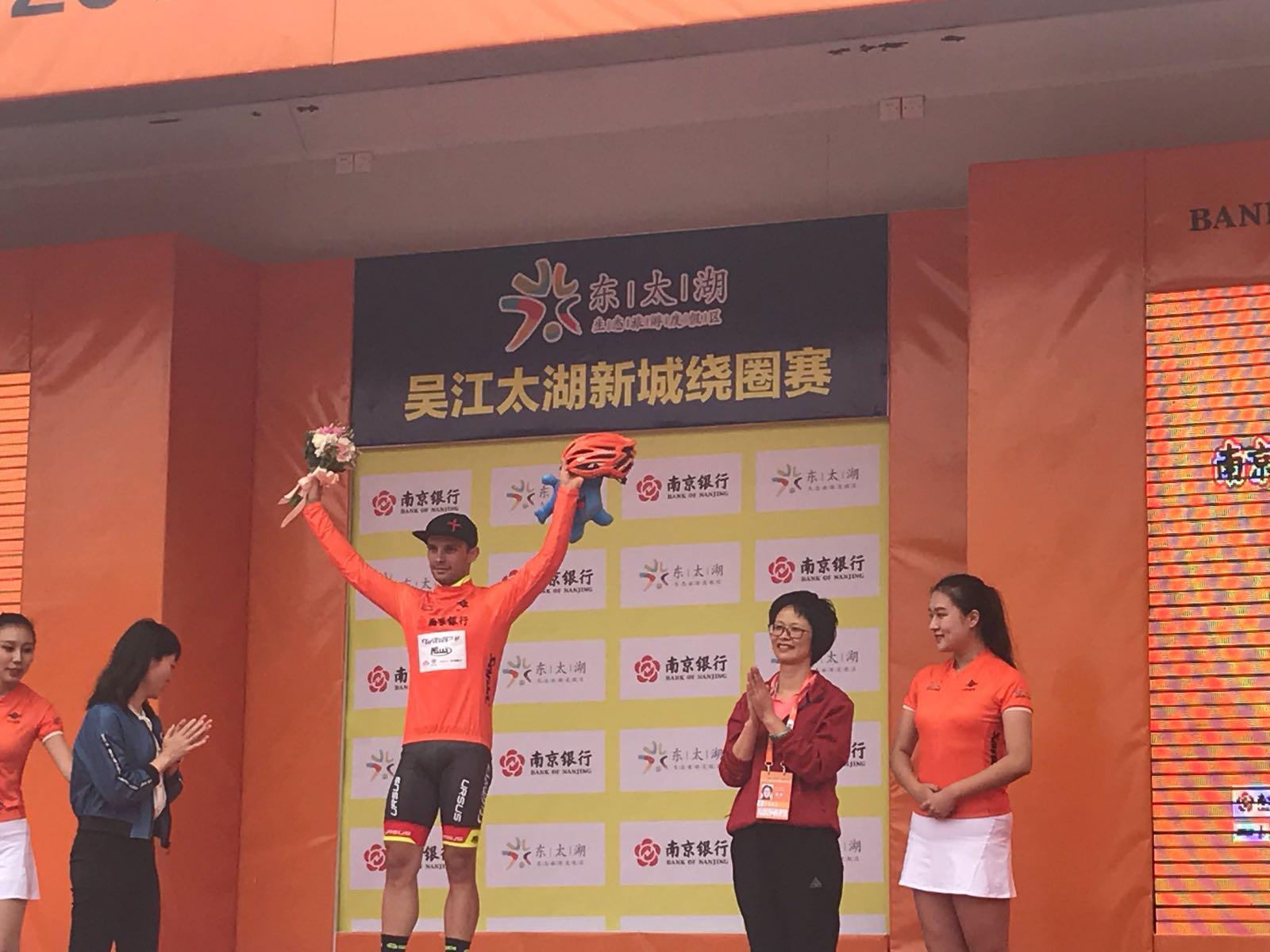 Jakub Mareczko diventa leader del our of Taihu Lake dopo la vittoria nella quarta tappa