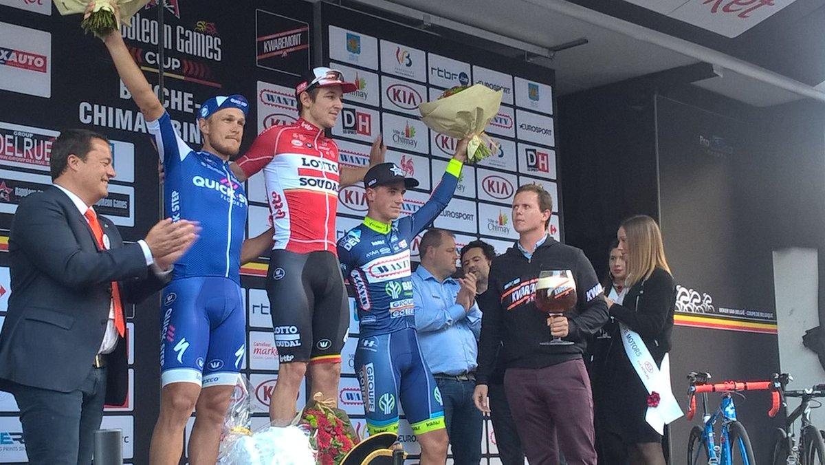 Il podio della Binche-Chimay-Binche 2017