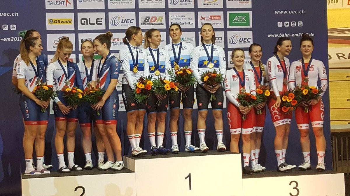 Il quartetto femminile campione d'Europa a Berlino