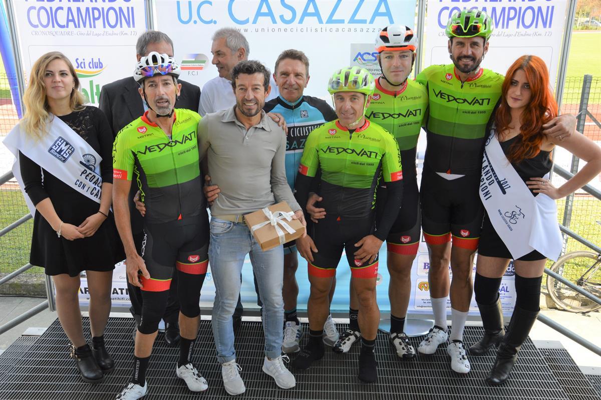 Il team vincitore capitanato da Paolo Lanfranchi