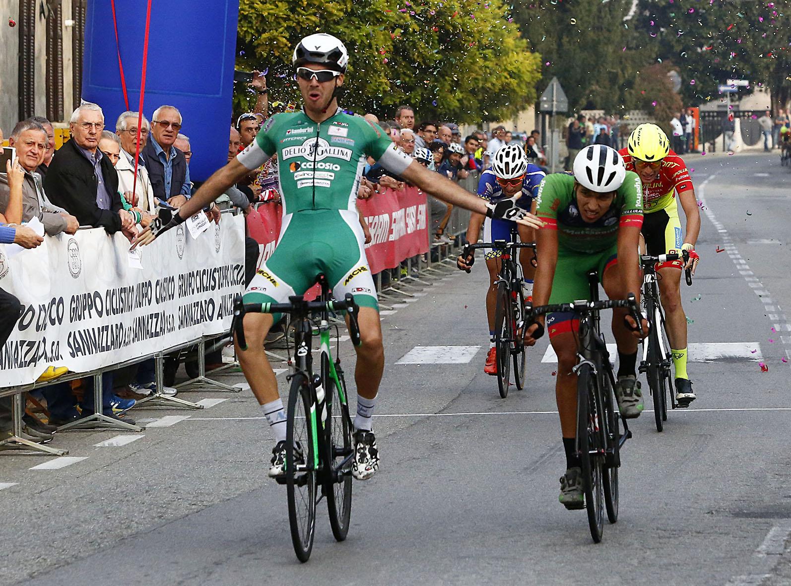 La vittoria di Mario Meris nel Il podio del 51° TrofeoComune diFerrera Erbognone