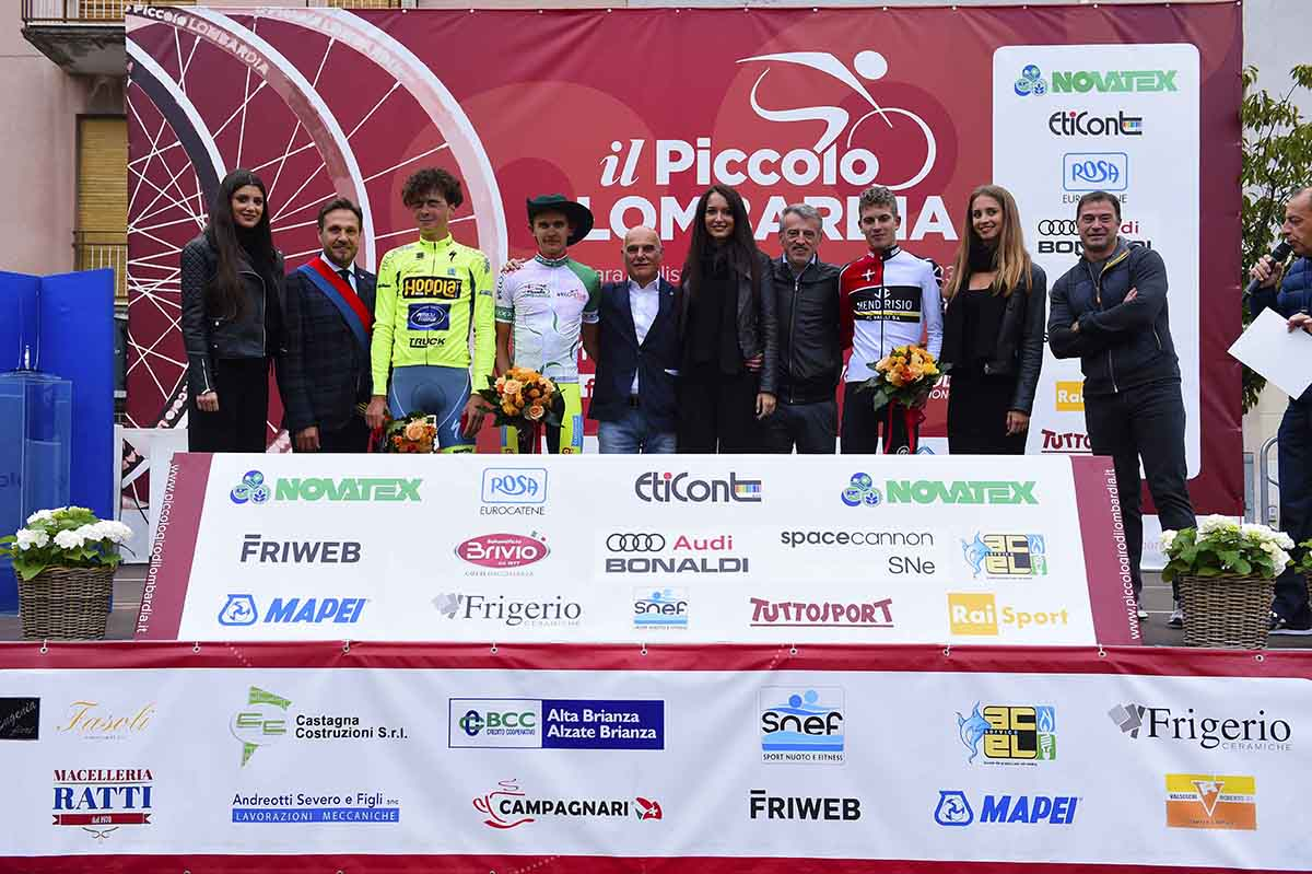 Il podio dell'89° Piccolo Giro di Lombardia