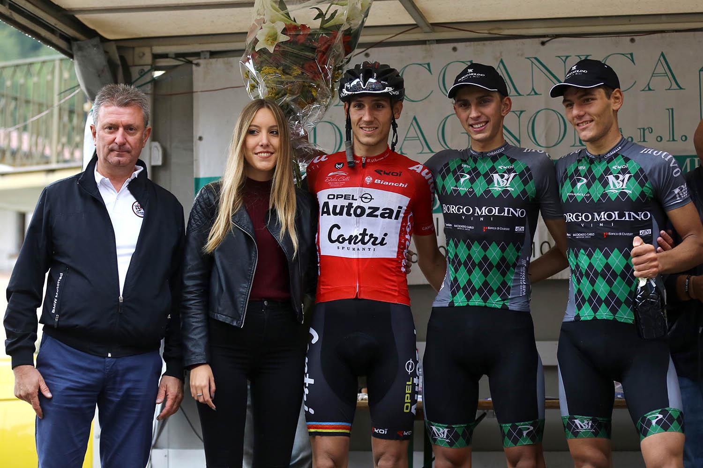 Il podio della 59/a Coppa Borgo Panica