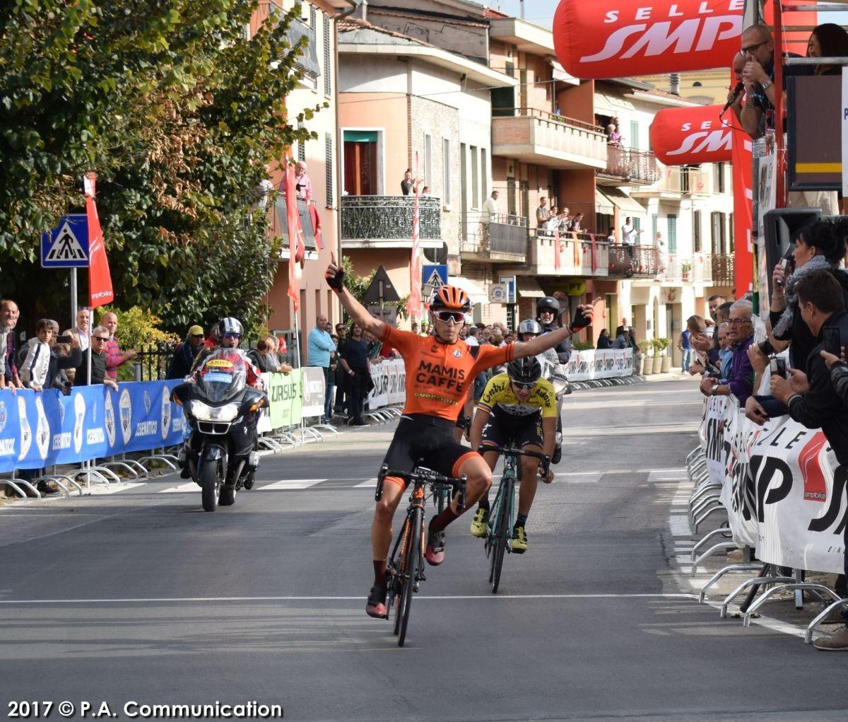 Gabriele Benedetti vince a Pretola