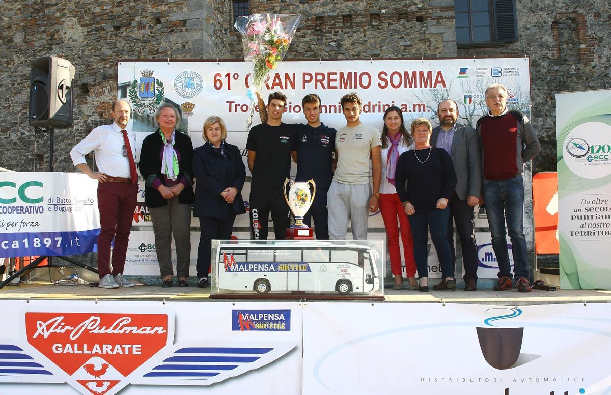 Il podio del 61° Gp Somma