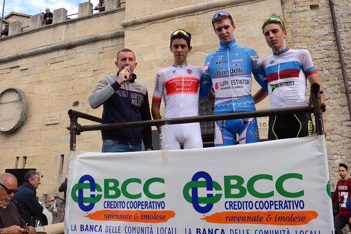 Il podio della Lugo-San Marino 2017