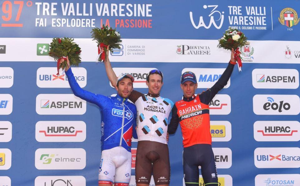 Il podio della Tre Valli Varesine 2017