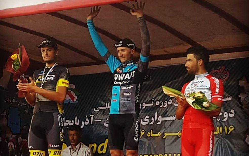 Davide Rebellin vincitore della quinta tappa del Tour of Iran (Azarbaijan)