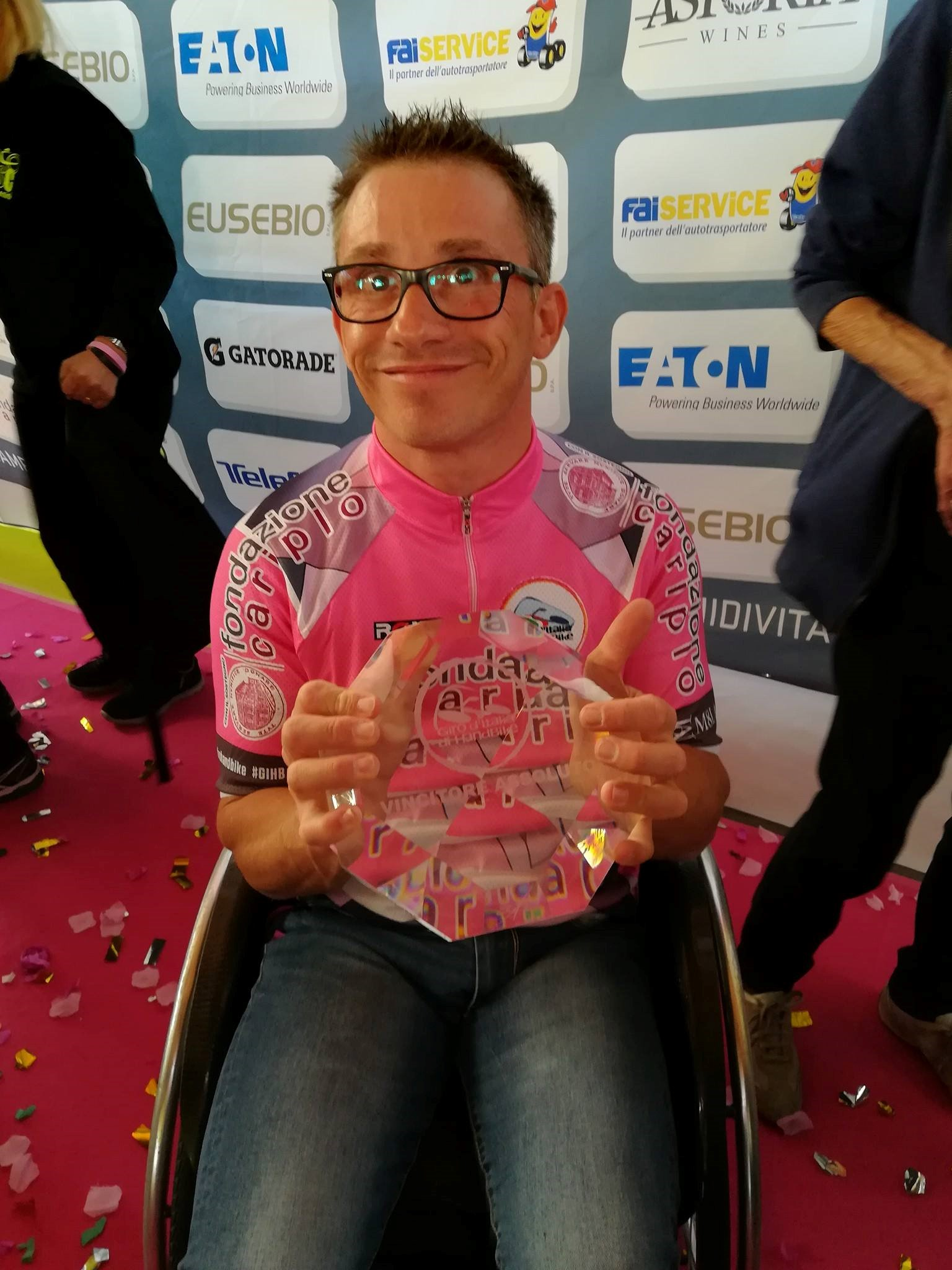 Omar Rizzato vincitore assoluto del Giro d'Italia di Handbike 2017