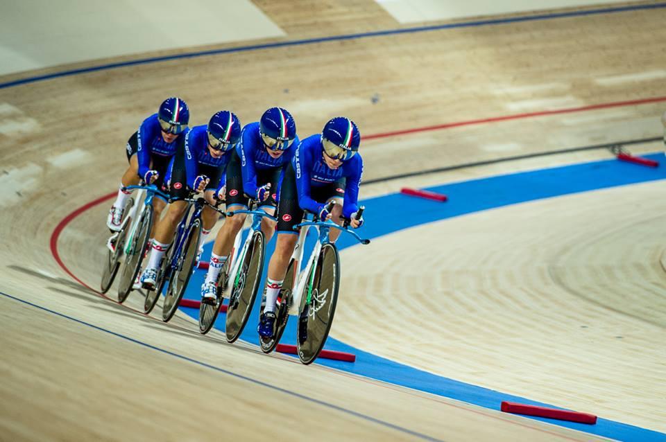 Il quartetto delle azzurre in azione