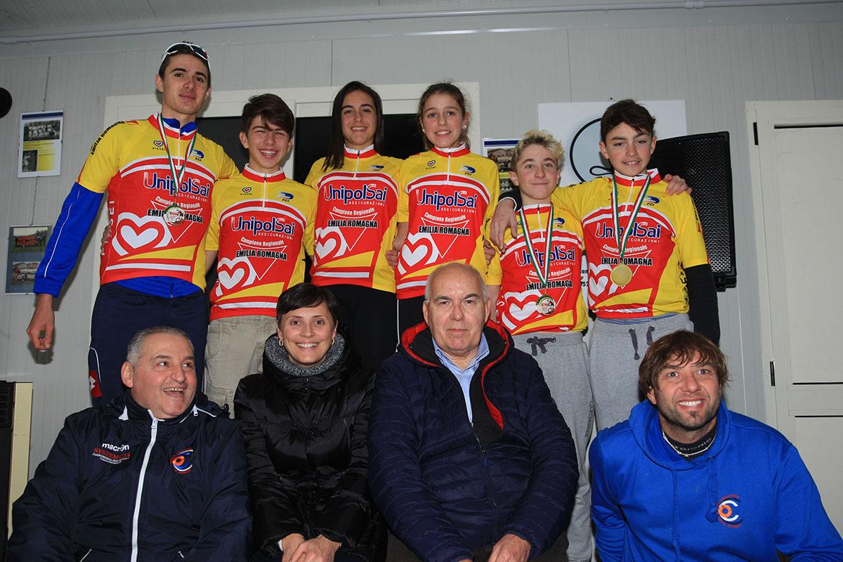 I campioni regionali ciclocross dell'Emilia Romagna 2017