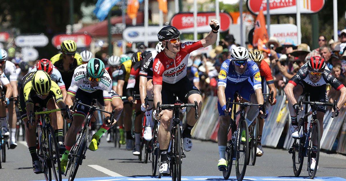 Andrè Greipel vince la prima tappa del Tour Down Under 2018