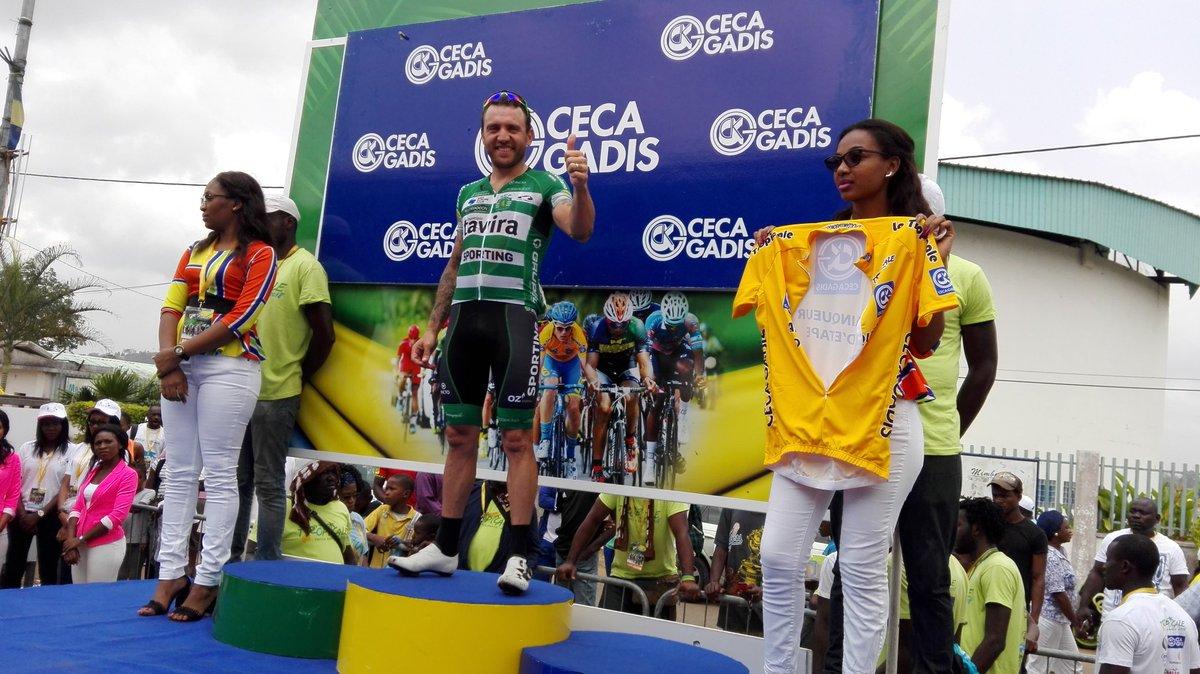 Rinaldo Nocentini vincitore della sesta tappa di La Tropicale Amissa Bongo 2018