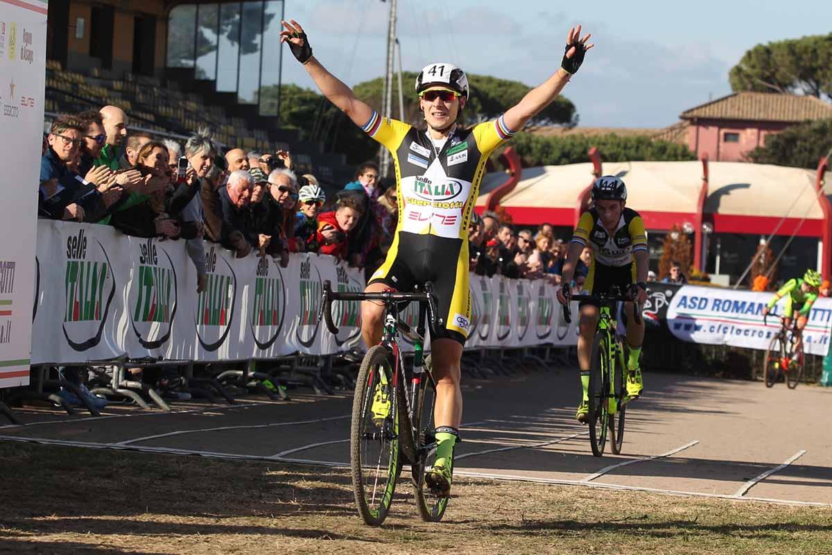 Jakob Dorigoni vince il Campionato Italiano ciclocross degli Under 23 a Roma