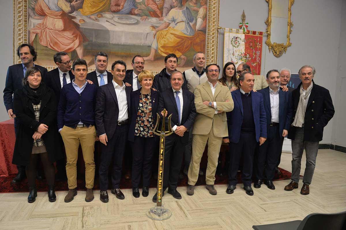 Le autorità presenti alla presentazione della Tirreno-Adriatico 2018