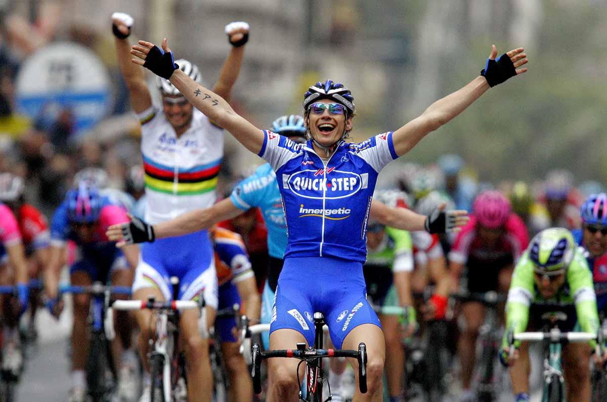Filippo Pozzato vince la Milano-Sanremo 2006