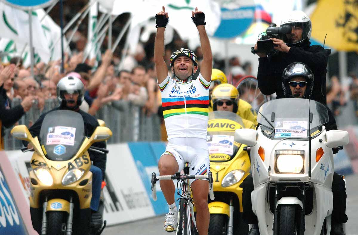 Paolo Bettini vince il 100°  Giro d'Italia