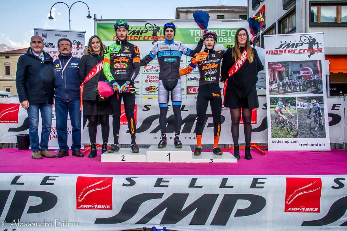 Il podio Open maschile di Vittorio Veneto